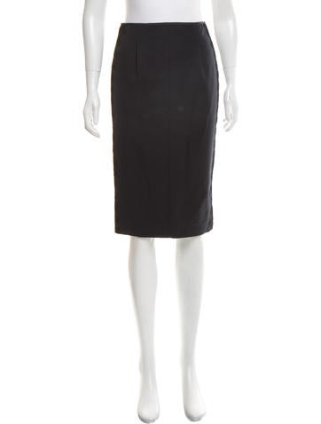 Nina Ricci Lace-Accented Pencil Skirt None