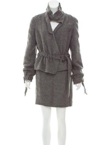 Nina Ricci Alpaca & Wool Skirt Suit None