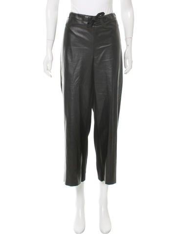 Nina Ricci Cashmere-Paneled Leather Pants None