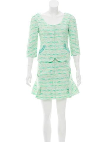 Nina Ricci Tweed Tailored Skirt Set None