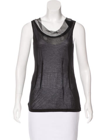 Nina Ricci Sheer Sleeveless Top None
