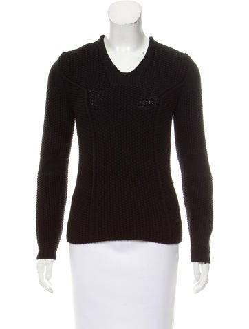 Nina Ricci Textured Virgin Wool Sweater None