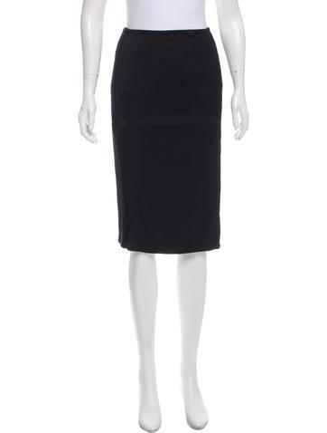 Nina Ricci Wool-Paneled Pencil Skirt None