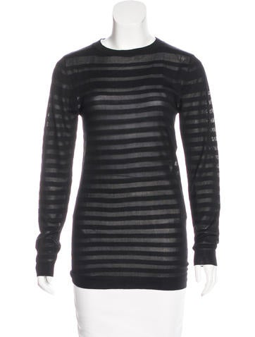 Nina Ricci Sheer Striped Top w/ Tags None