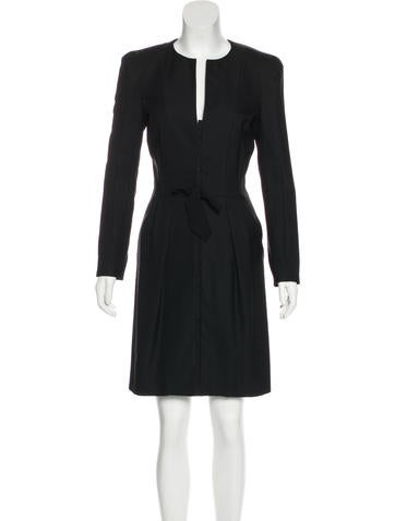 Nina Ricci Virgin Wool Sheath Dress None