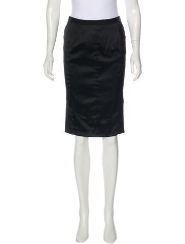 Nina Ricci Satin Pencil Skirt w/ Tags None