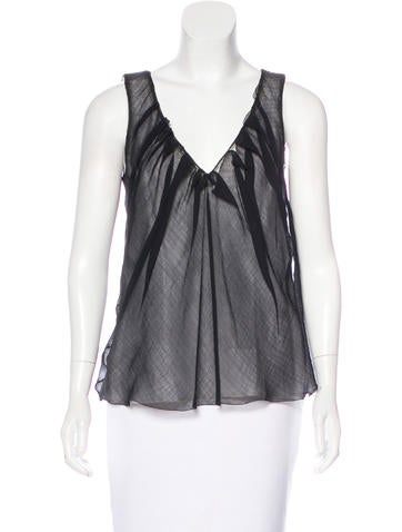 Nina Ricci Silk Sleeveless Top None