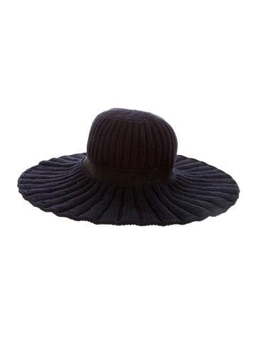 Nina Ricci Cashmere Wide Brim Hat None