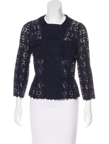 Nina Ricci Lace Long Sleeve Top None