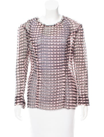 Nina Ricci Wool-Accented Silk Top None