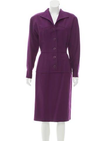 Nina Ricci Wool Midi Dress None