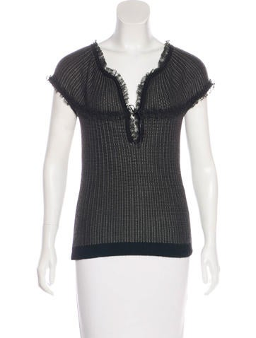 Nina Ricci Cashmere Knit Top None