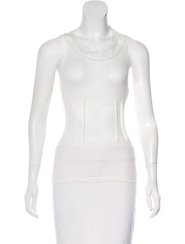 Nina Ricci Tulle-Accented Knit Top None