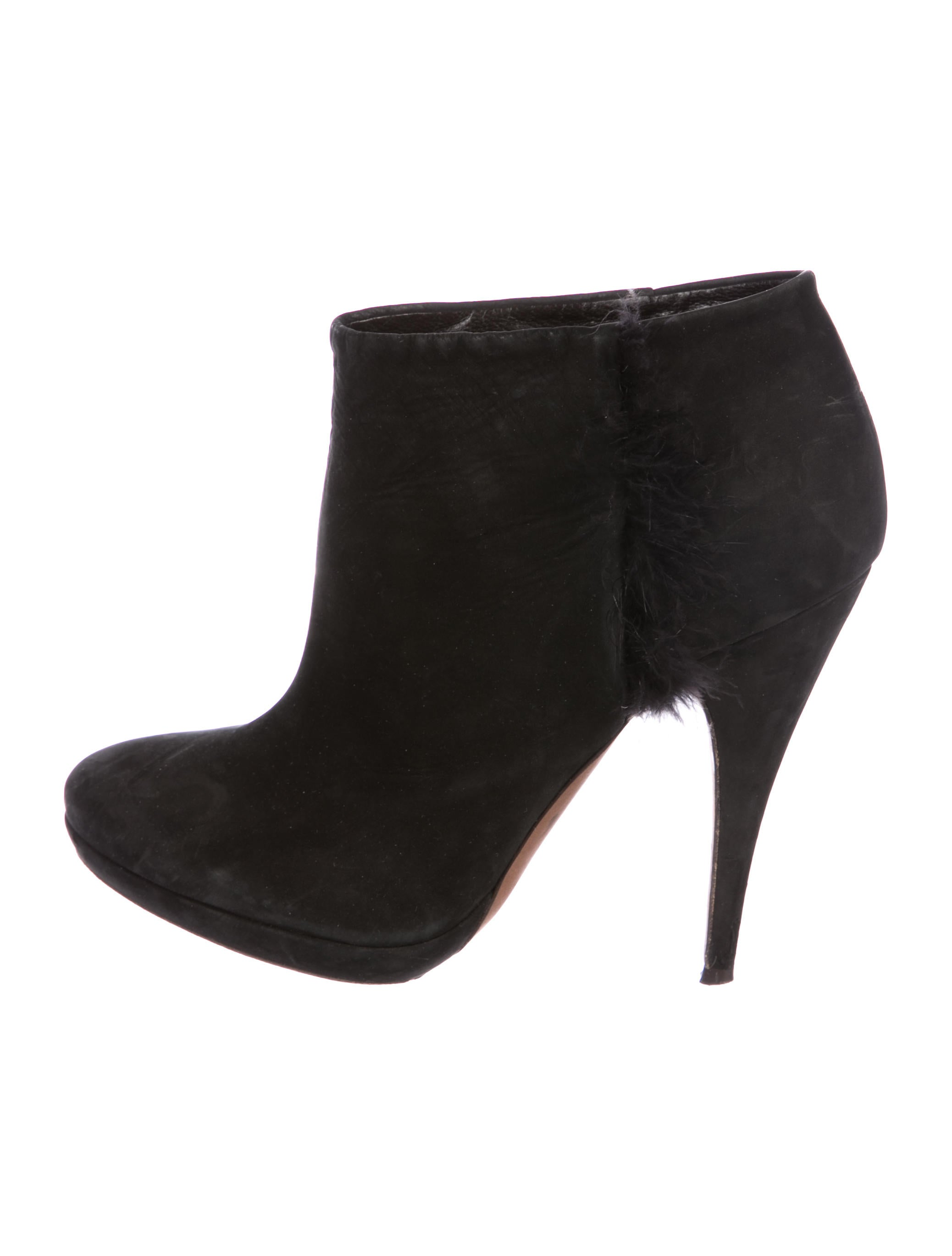 Nina Ricci Leather Round-Toe Booties free shipping best prices visit new for sale visit free shipping 100% guaranteed tqYGyfhgOZ