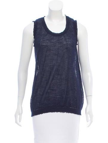 Nina Ricci Sleeveless Knit Top None