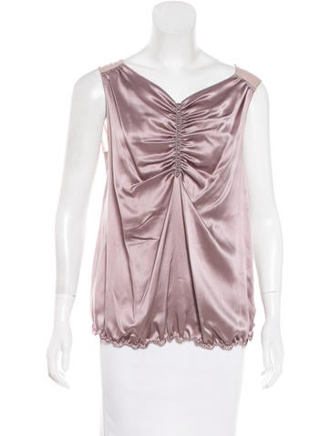 Nina Ricci Silk-Blend Top None
