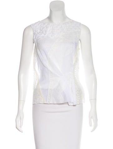 Nina Ricci Ruffled Lace Top None