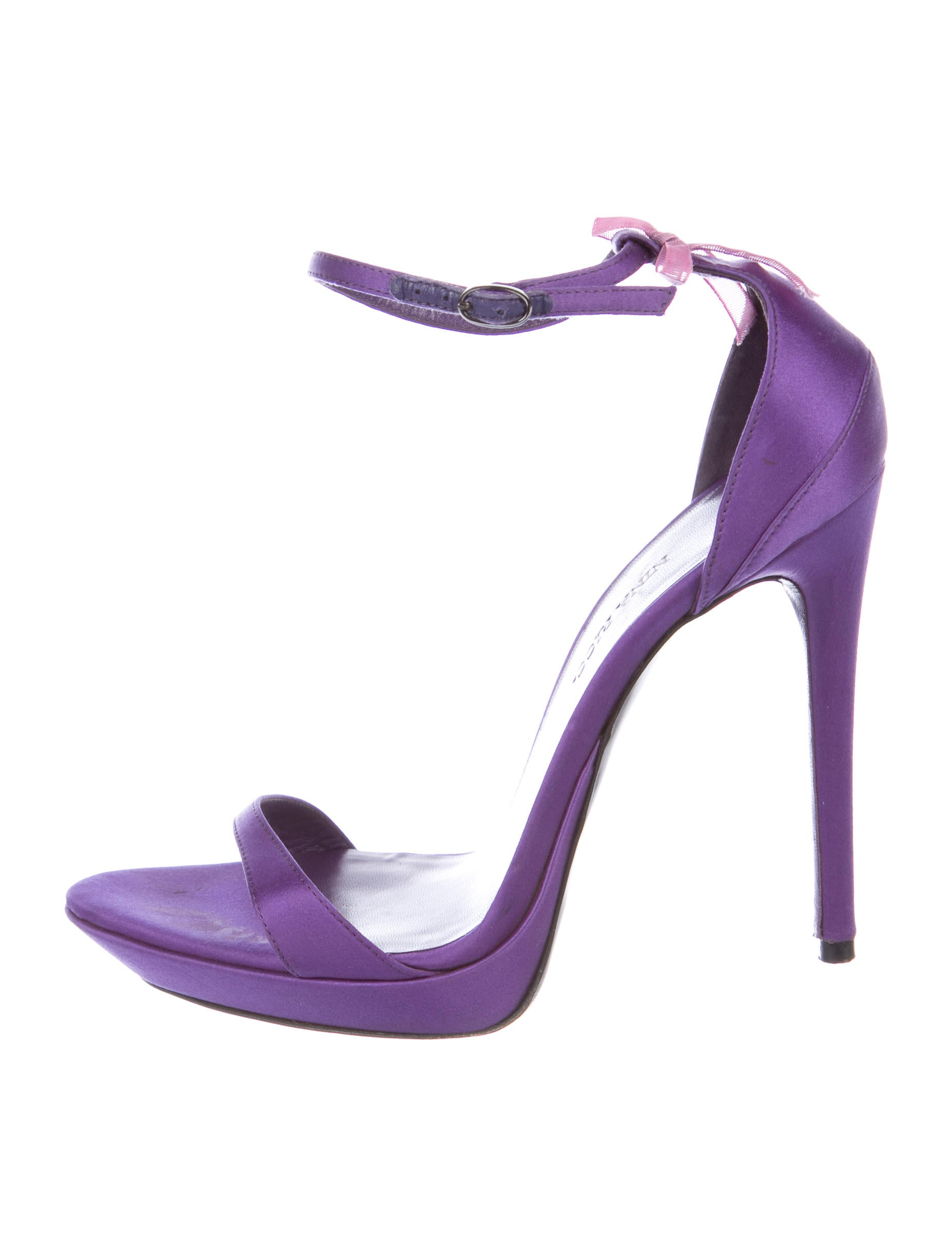 where to buy cheap real classic cheap online Nina Ricci Satin Ankle Strap Sandals 5m1BNpx