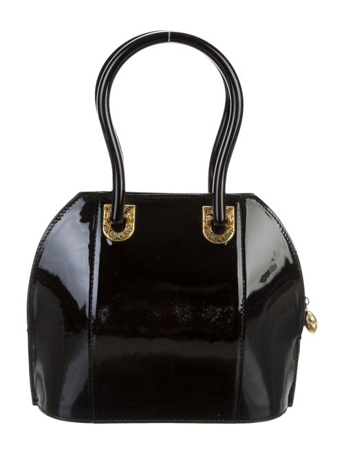 Nina Ricci Patent Leather Handle Bag Black