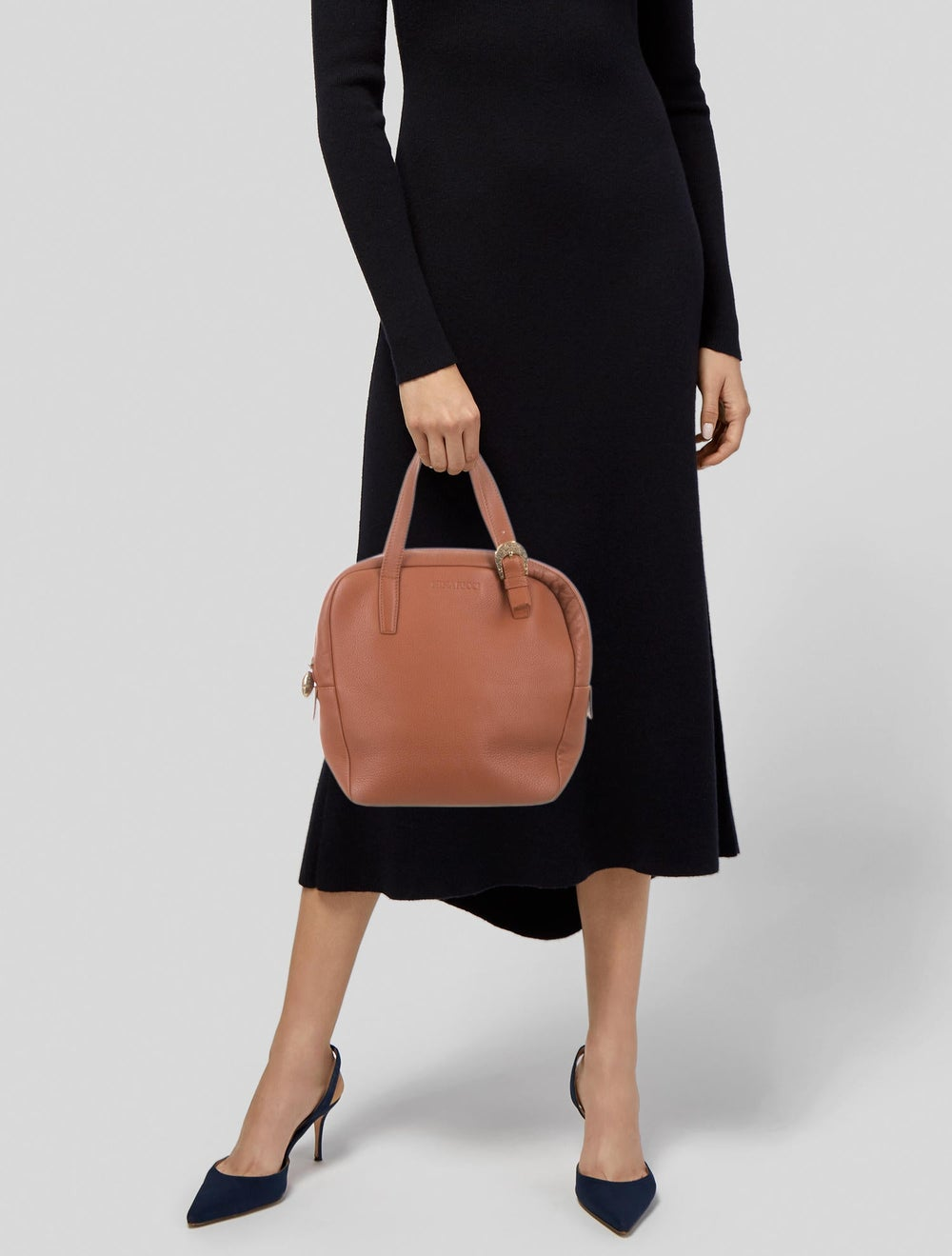 Nina Ricci Leather Handle Bag Brown - image 2
