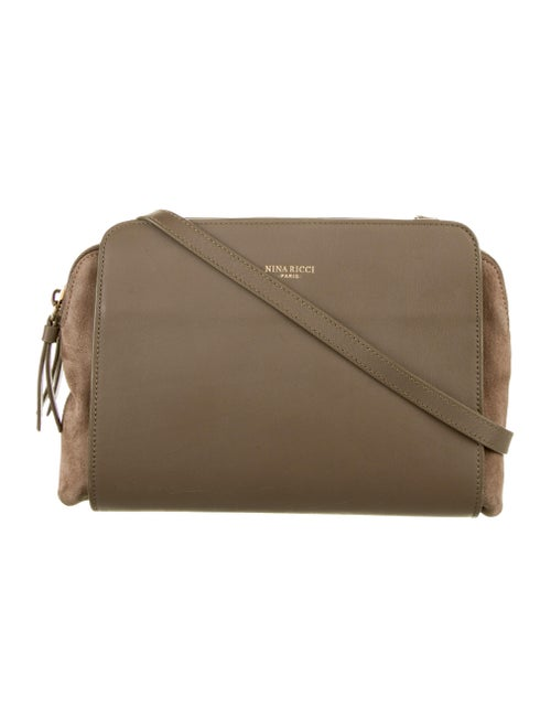 Nina Ricci Leather-Trimmed Crossbody Bag Tan