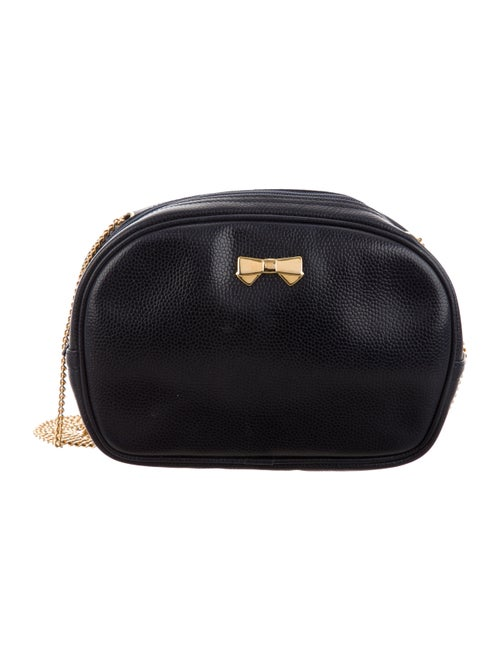 Nina Ricci Pebbled Leather Shoulder Bag Navy