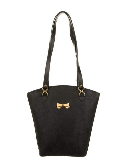 Nina Ricci Leather Handle Bag Black