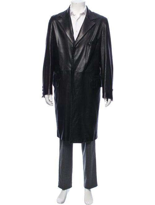 Nina Ricci Notch-Lapel Top Coat black