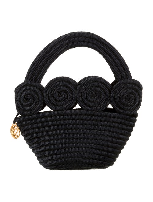 Nina Ricci Woven Handle Bag Black