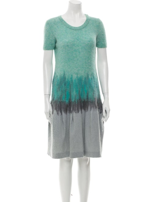 Nina Ricci Tie-Dye Print Knee-Length Dress Green
