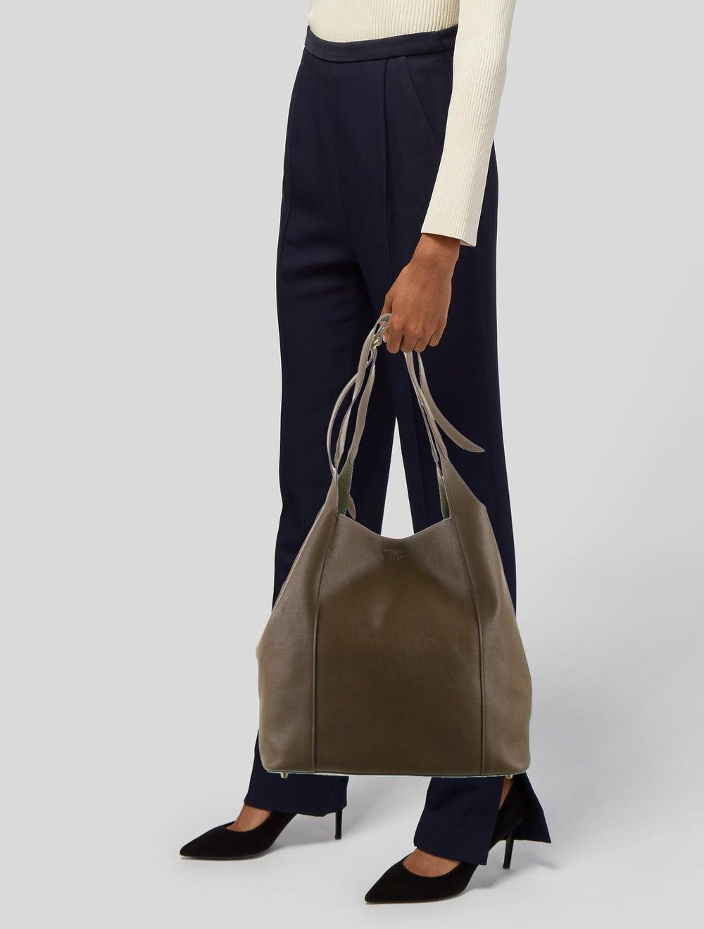 Nina Ricci Leather Tote Bag Brown - image 2