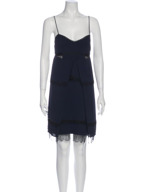 Nina Ricci Silk Mini Dress w/ Tags Blue