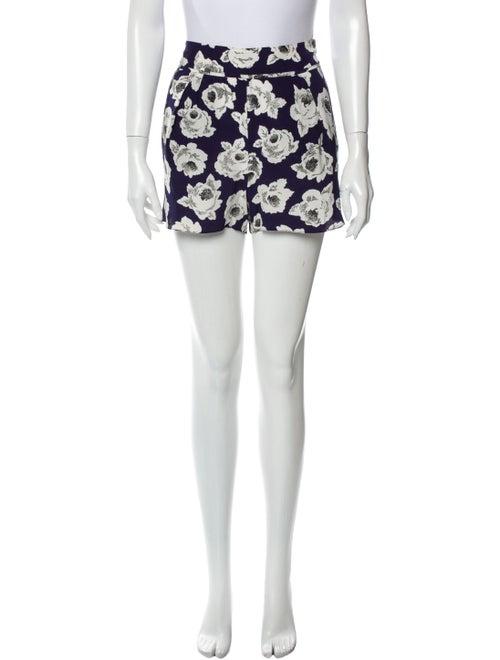 Nina Ricci Silk Mini Shorts Blue