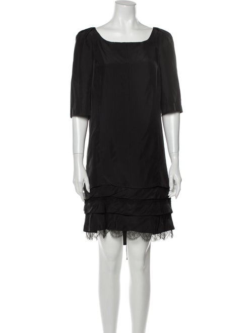 Nina Ricci Silk Mini Dress Black