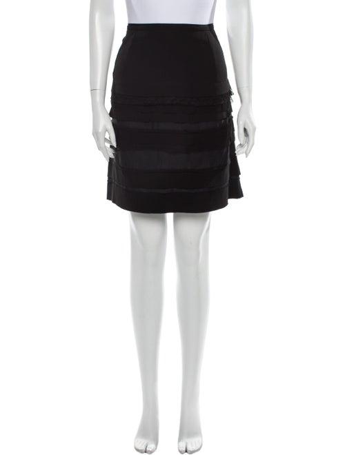 Nina Ricci Silk Mini Skirt Black