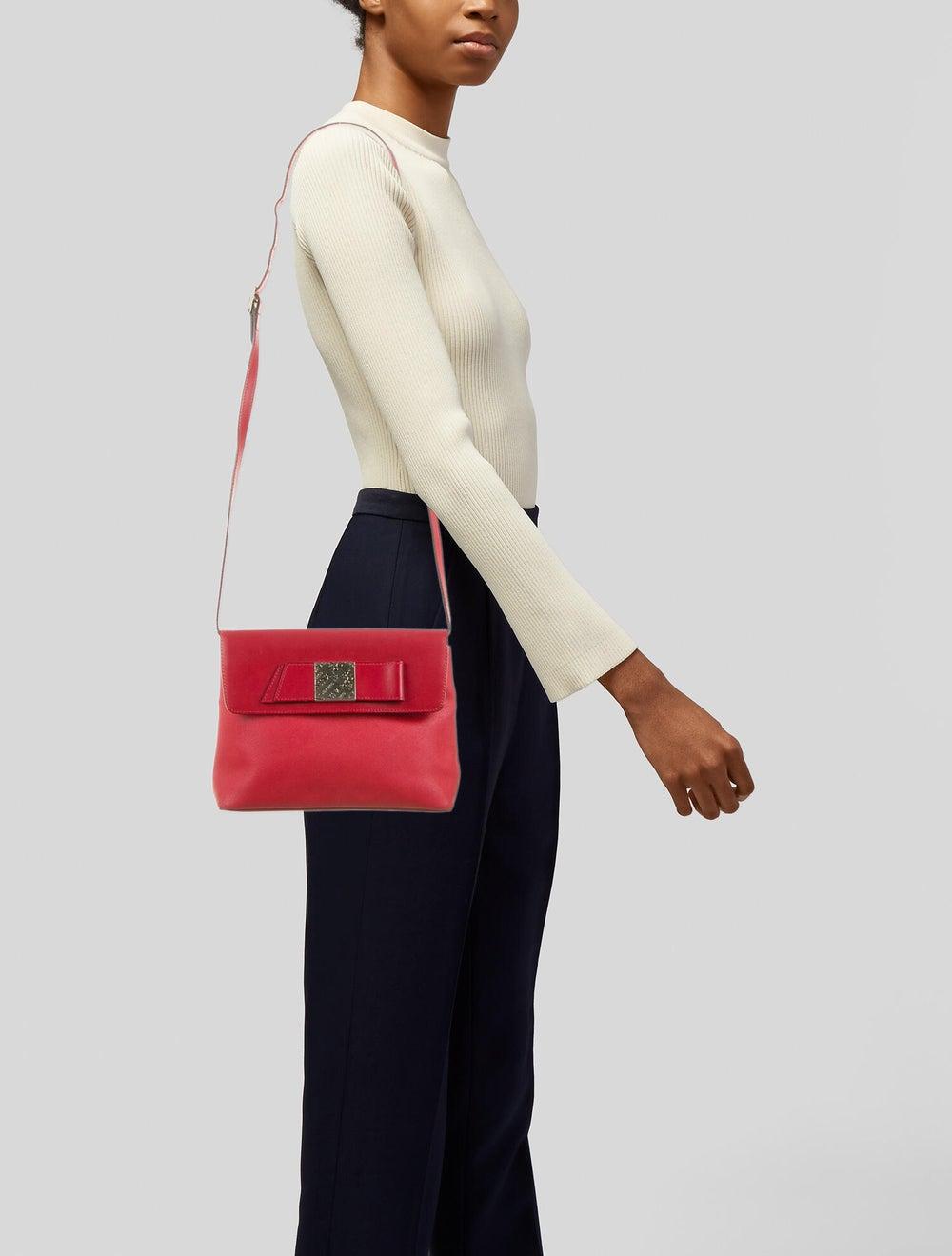 Nina Ricci Leather Shoulder Bag Red - image 2