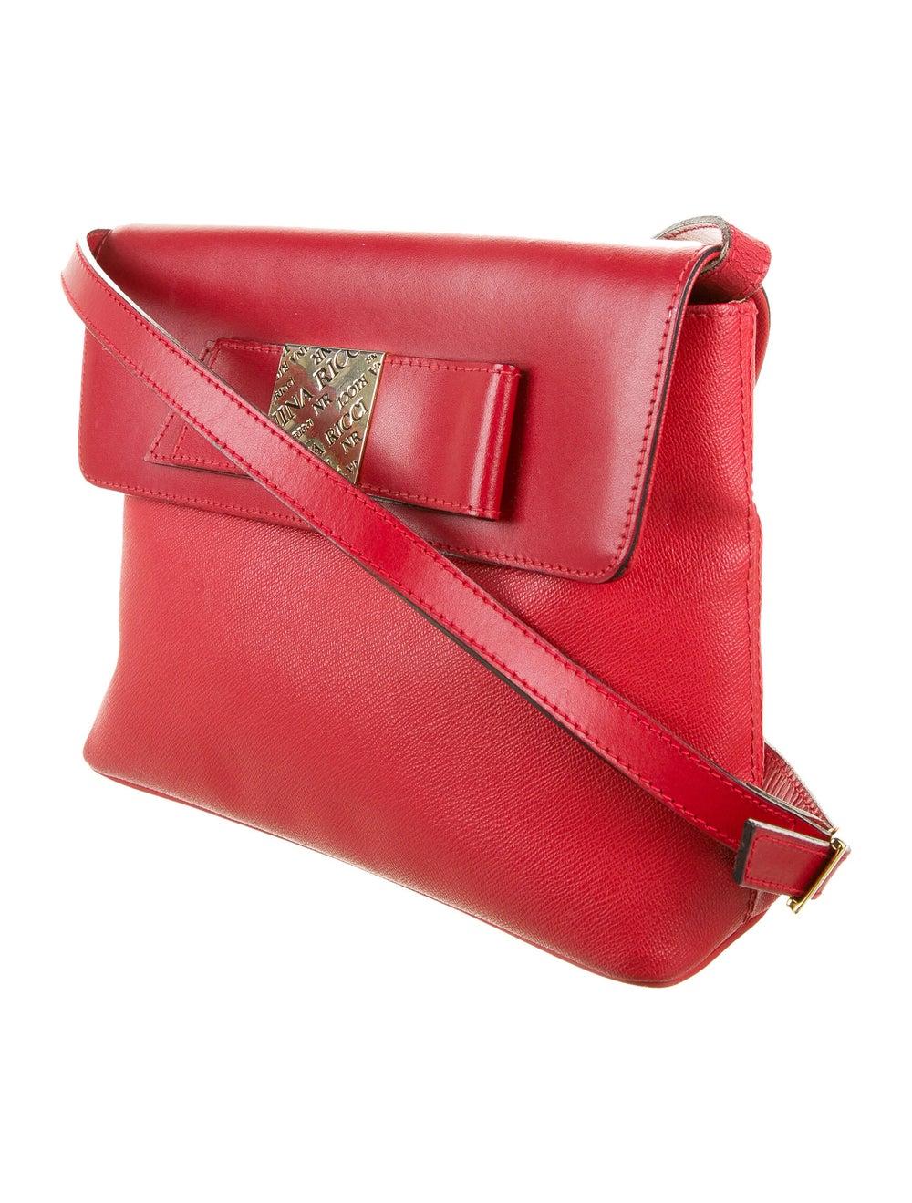 Nina Ricci Leather Shoulder Bag Red - image 3