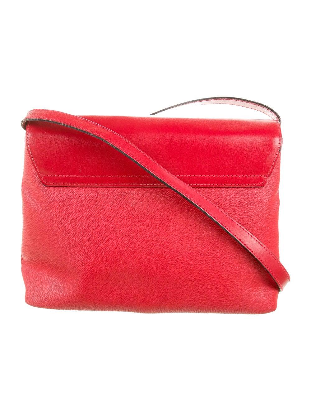 Nina Ricci Leather Shoulder Bag Red - image 4