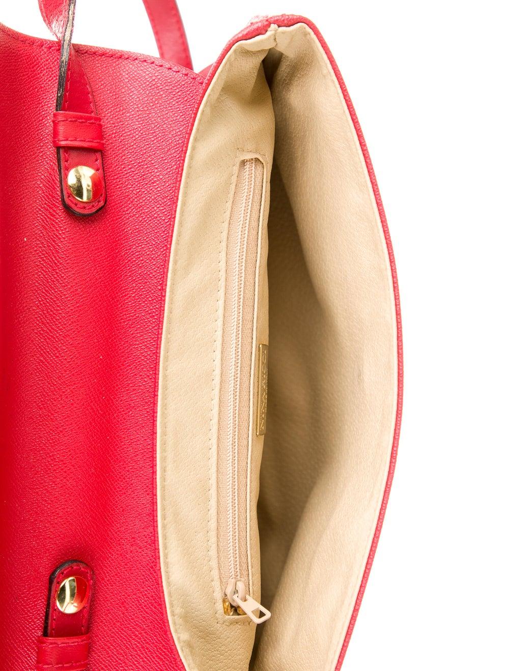 Nina Ricci Leather Shoulder Bag Red - image 5