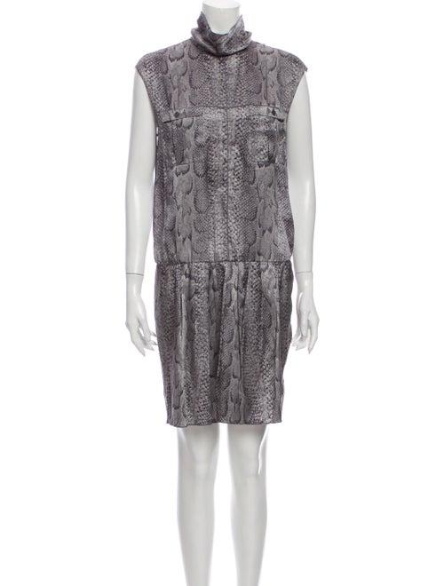 Nina Ricci Silk Mini Dress Grey