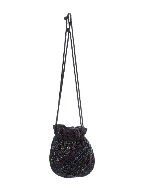 Nina Ricci Beaded Drawstring Bag Blue