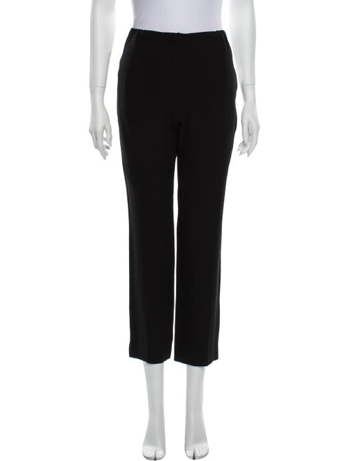 Nina Ricci Silk Straight Leg Pants Black