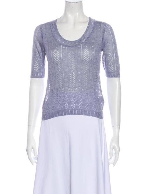 Nina Ricci 2007 Silk Sweater Purple
