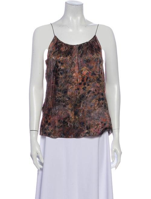 Nina Ricci Silk Printed Top
