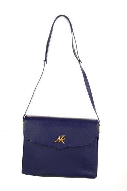 Nina Ricci Leather Shoulder Bag Blue