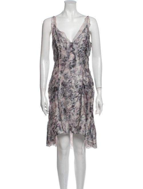 Nina Ricci Silk Mini Dress Purple