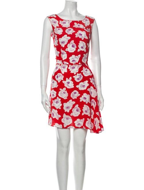 Nina Ricci Silk Mini Dress Red