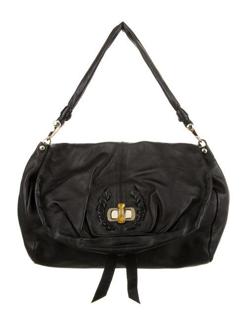 Nina Ricci Leather Shoulder Bag Black