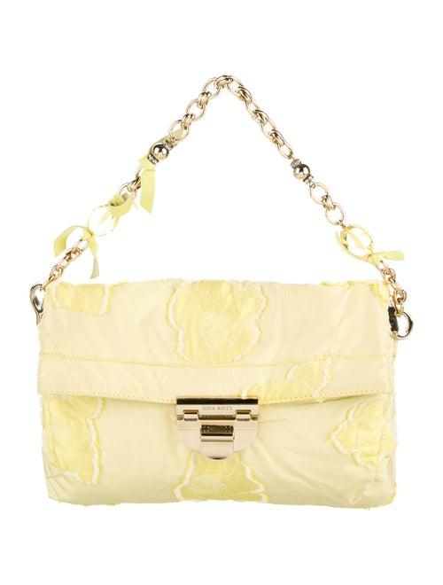 Nina Ricci Embroidered Handle Bag Yellow