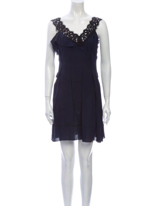 Nina Ricci Silk Mini Dress Blue